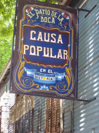 Filete sign, La Boca