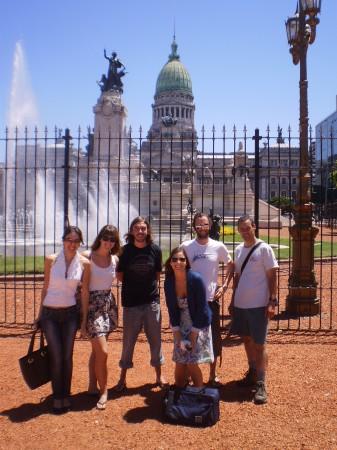 The gang, Plaza de los Dos Congresos