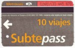 Buenos Aires Subte ticket