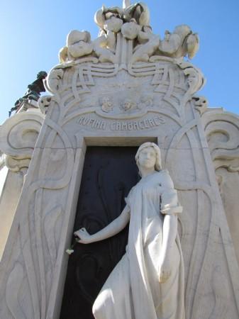 Rufina Cambaceres, Recoleta Cemetery