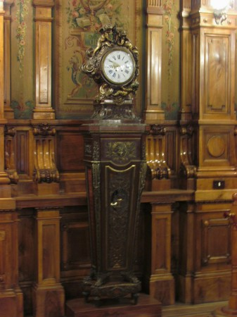 Louis XIV clock in the library