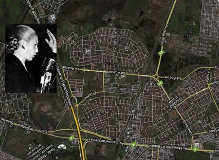 Cuidad Evita seen from above