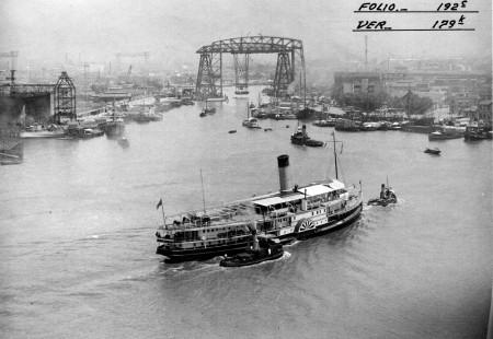 Riachuelo transporter bridge in 1938