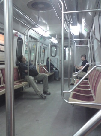 Buenos Aires Subte at 6:30am