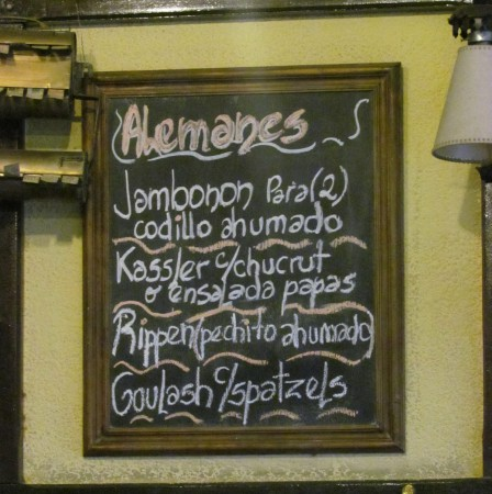 The German Menu, Ocho Esquinas, Colegiales