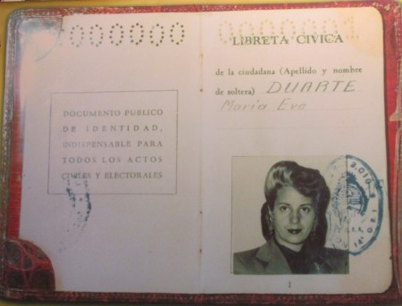 Eva Perón's National ID Card