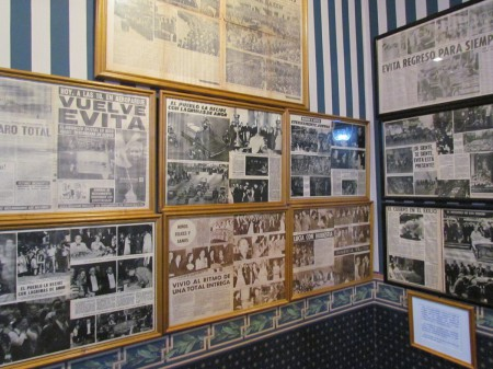 Newspapers on display