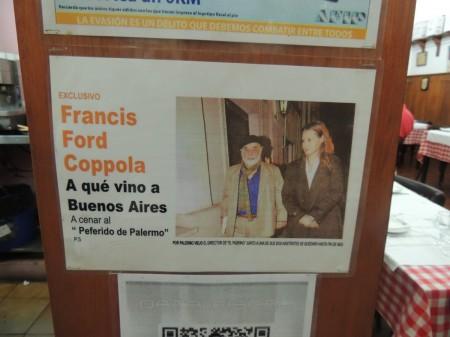 Francis Ford Coppola in El Preferido