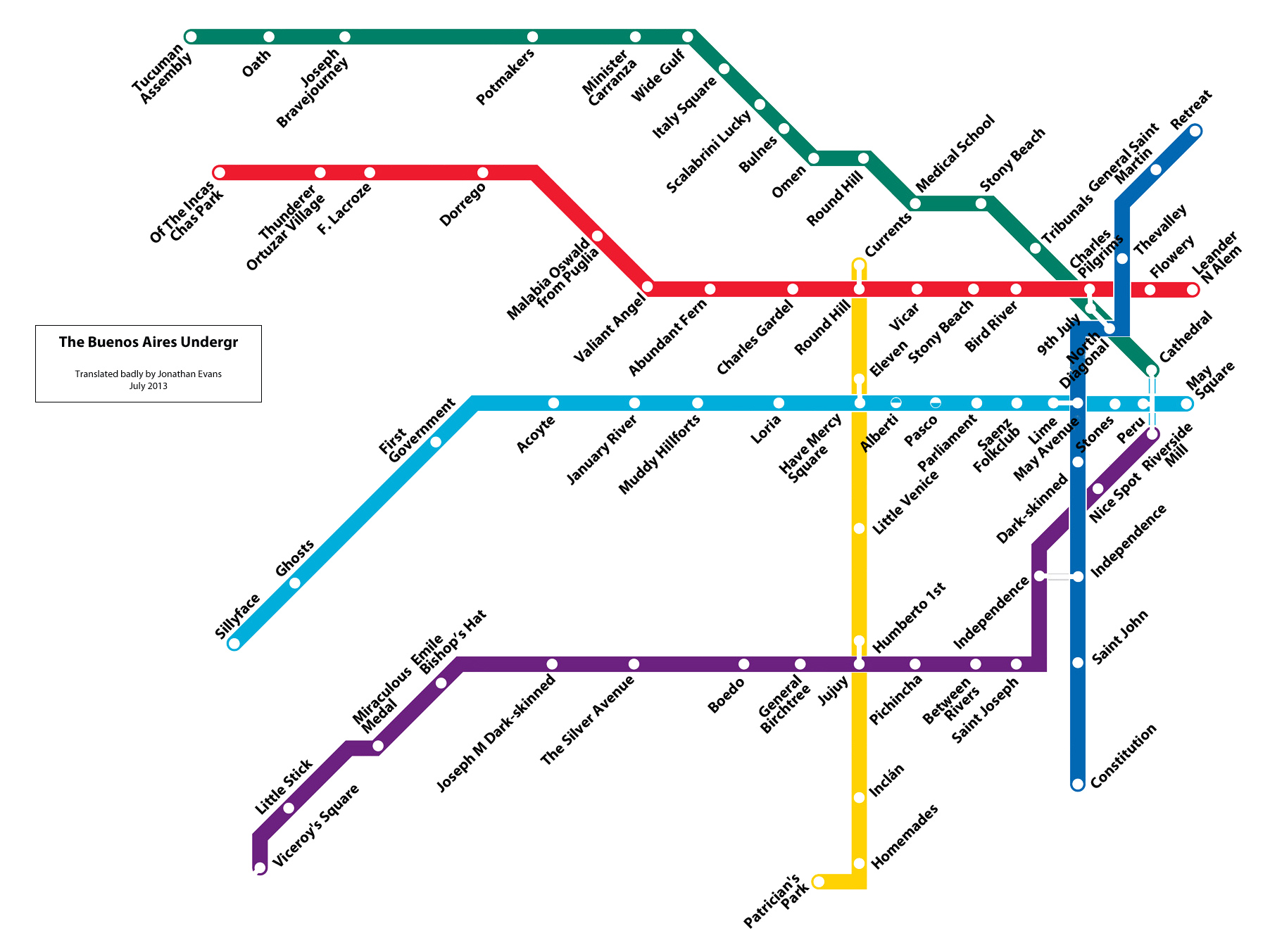 The Buenos Aires Subte Translated - Argentina subte map